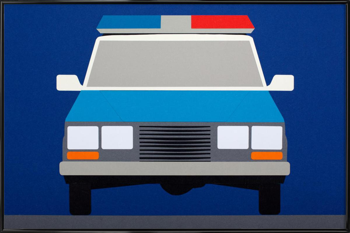 Police Car 1988 as Poster in Standard Frame by Rosi Feist | JUNIQE
