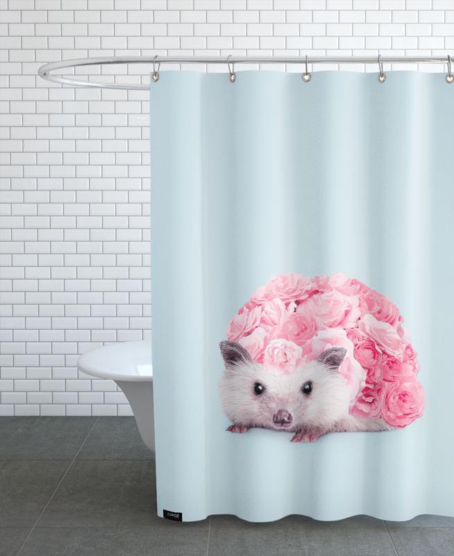 hedgerosehog als duschvorhang von jonas loose juniqe. Black Bedroom Furniture Sets. Home Design Ideas