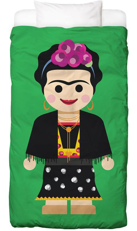 frida kahlo toy en linge de lit par rafa gomes juniqe. Black Bedroom Furniture Sets. Home Design Ideas
