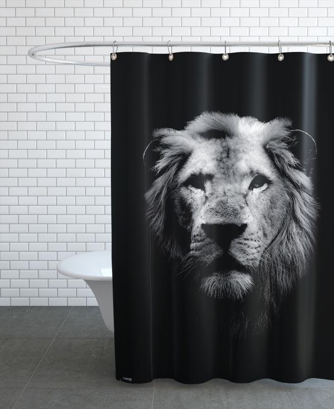 Dark Lion Shower Curtain