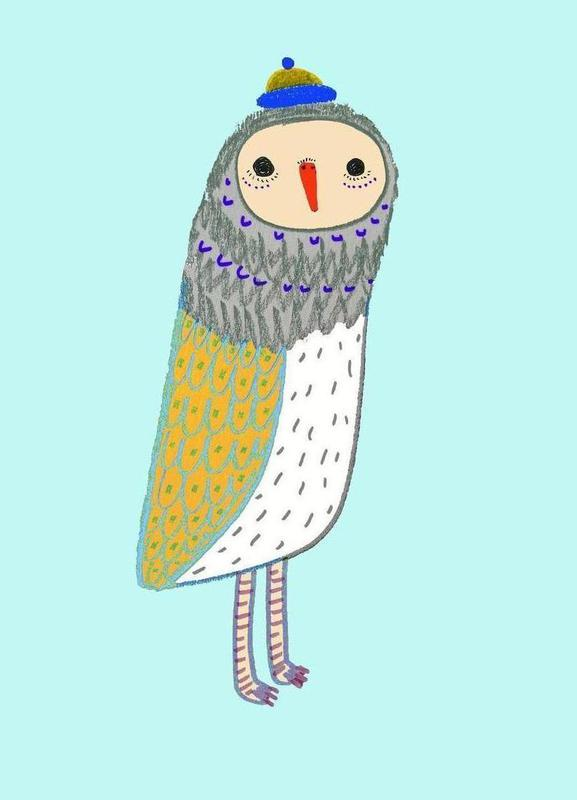 Owl Tall As Canvas Print By Ashley Percival Juniqe