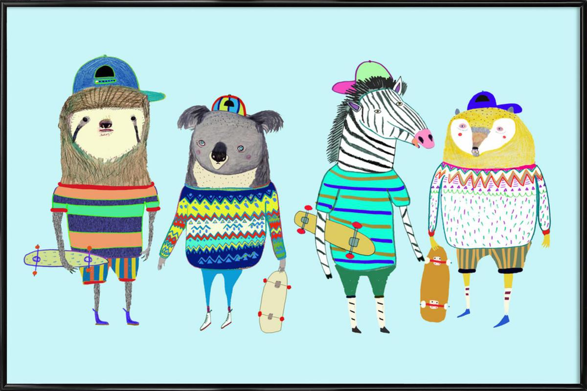 Dudes als Poster im Kunststoffrahmen von Ashley Percival   JUNIQE CH