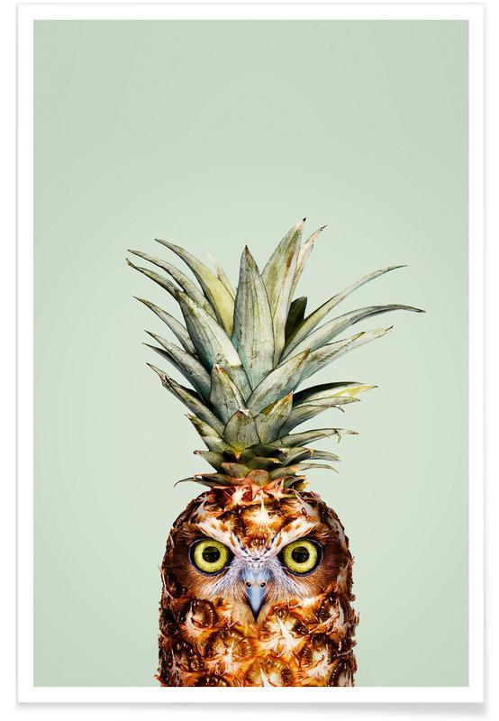 Pineapple Owl Poster Juniqe
