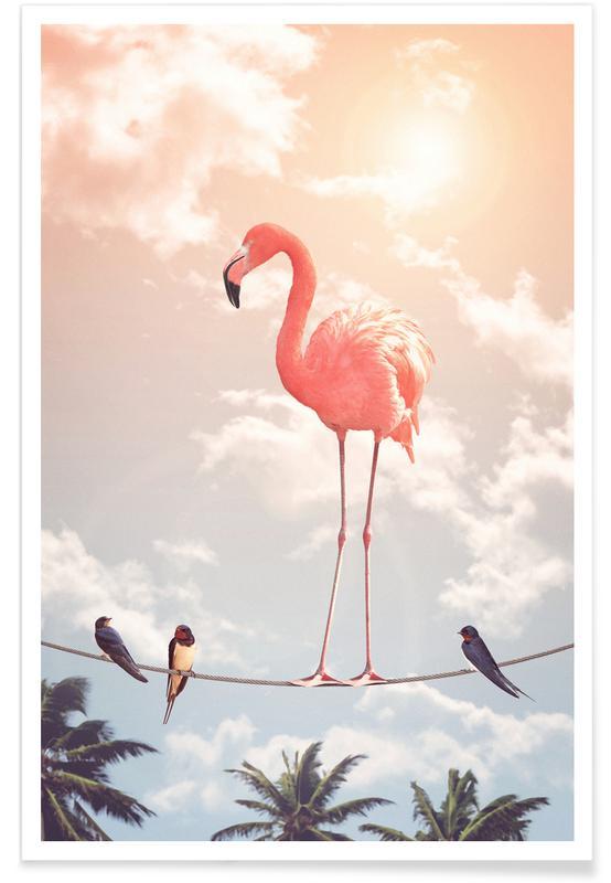 Flamingo And Friends Poster Juniqe Uk