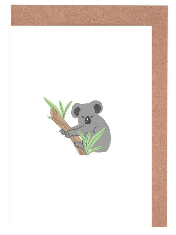 Koala as greeting card set by journelles juniqe m4hsunfo