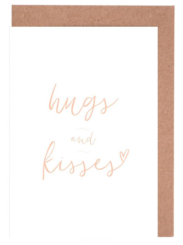 Hugs and kisses as greeting card set by journelles juniqe m4hsunfo