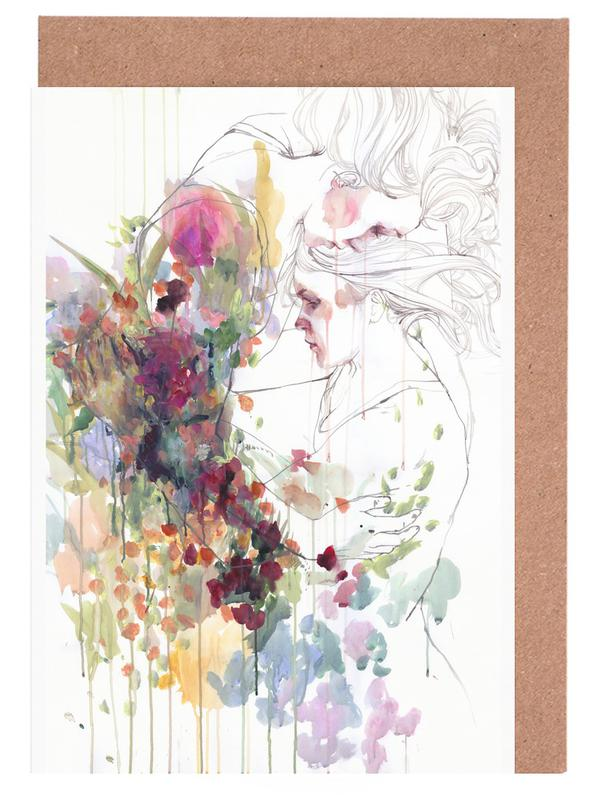 Take care of your garden as greeting card set by agnes cecile juniqe m4hsunfo