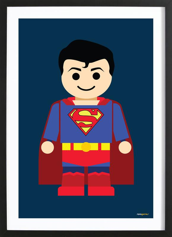 Home Wall Art Posters in Wooden Frames  sc 1 st  Juniqe & Superman Toy as Poster in Wooden Frame by Rafa Gomes | JUNIQE