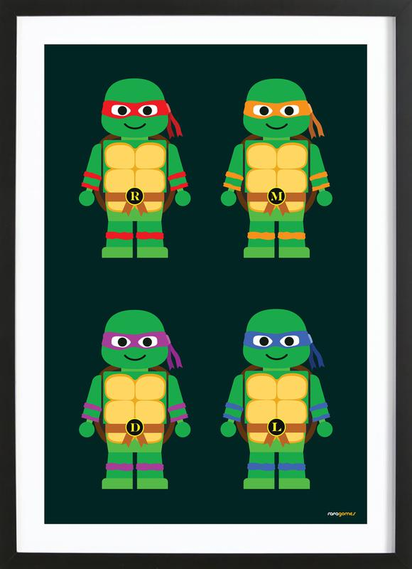 Teenage Mutant Ninja Turtles As Poster In Wooden Frame Juniqe Uk