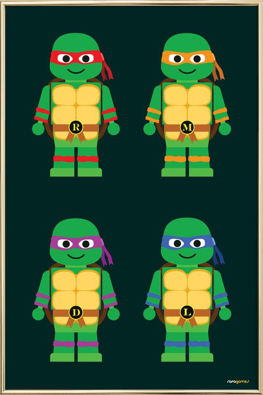 Teenage Mutant Ninja Turtles As Poster In Aluminium Frame Juniqe