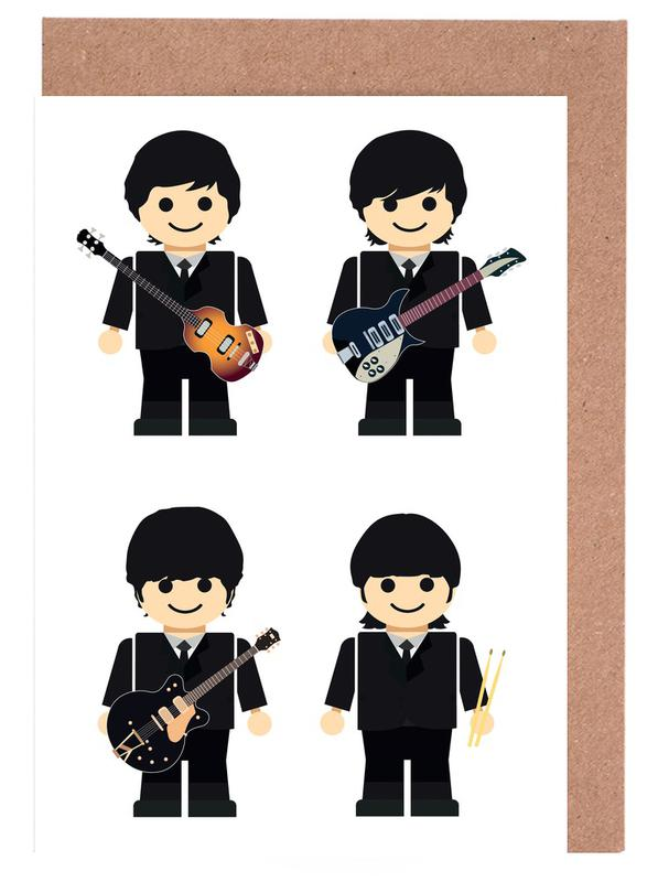 The beatles toy as greeting card set by rafa gomes juniqe m4hsunfo