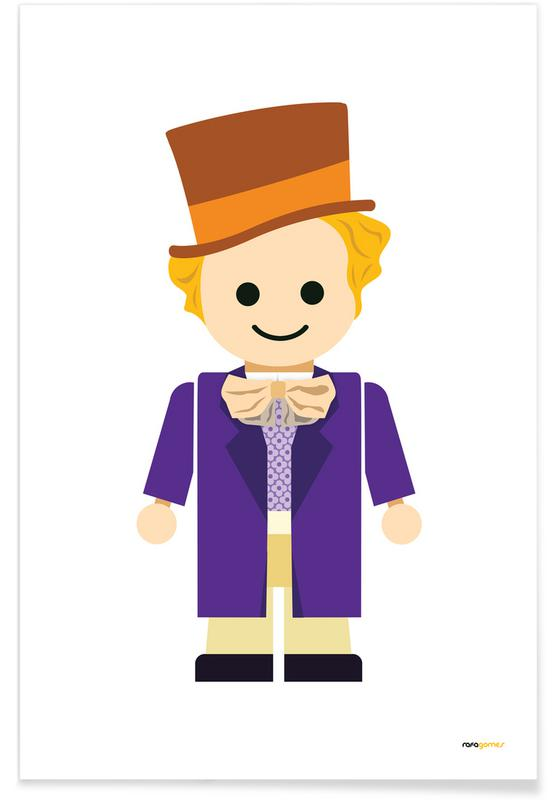 willy wonka toy as premium poster by rafa gomes juniqe uk rh juniqe co uk willy wonka and the chocolate factory clip art willy wonka candy clip art