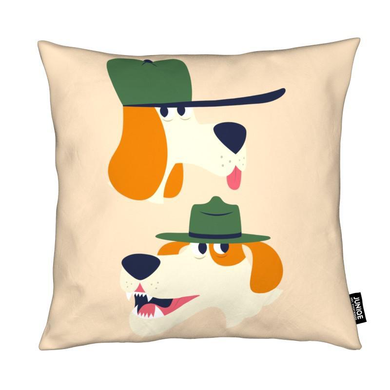 dogs als kissen von the poster kid juniqe. Black Bedroom Furniture Sets. Home Design Ideas