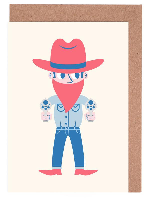 Cowboy as greeting card set by the poster kid juniqe m4hsunfo