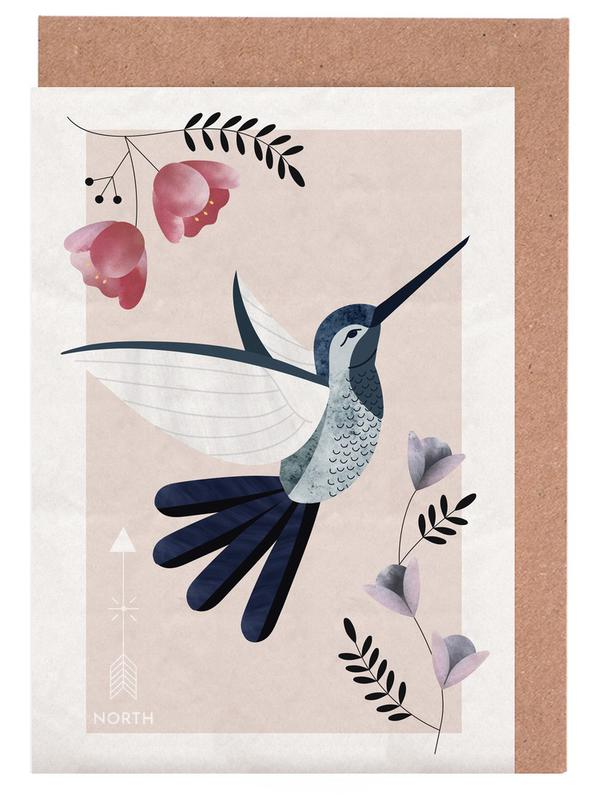 Spirit animal hummingbird as greeting card set by soul zen juniqe m4hsunfo