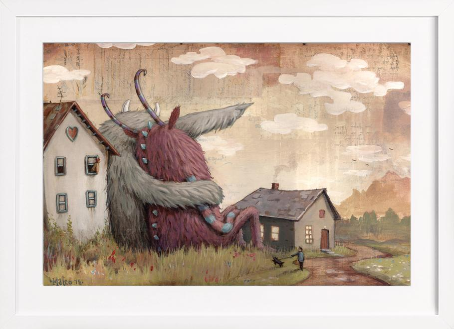 Cloud Nine als Poster im Holzrahmen von Zozoville | JUNIQE