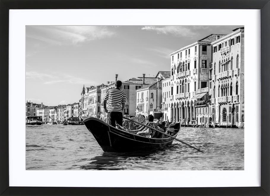 Venice as poster in wooden frame juniqe
