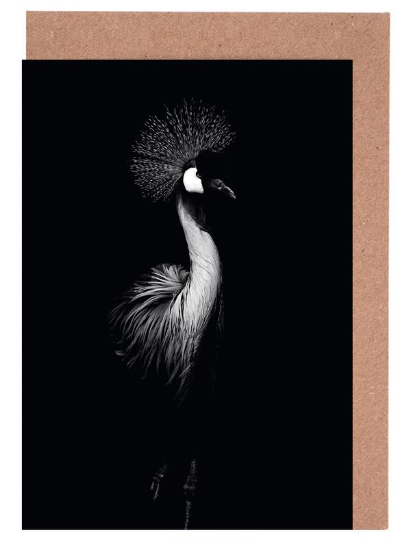 Dark crane as greeting card set by wouter rikken juniqe m4hsunfo