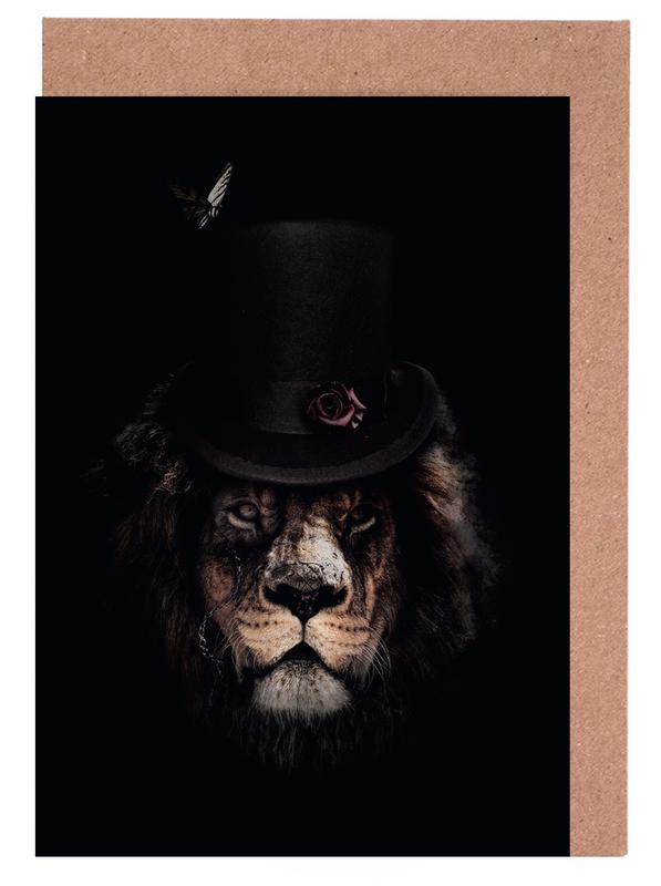 Classy lion as greeting card set by wouter rikken juniqe m4hsunfo