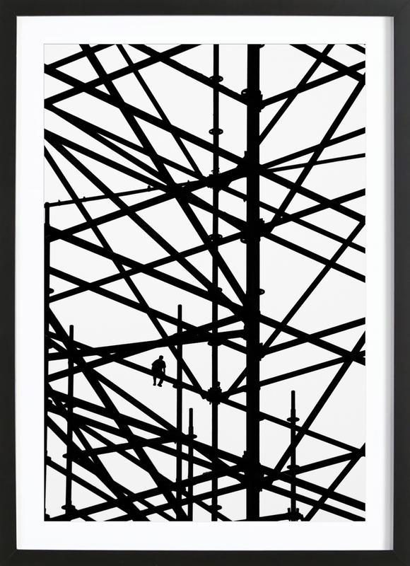 Coffee Break as Poster in Wooden Frame by Marcus Cederberg | JUNIQE