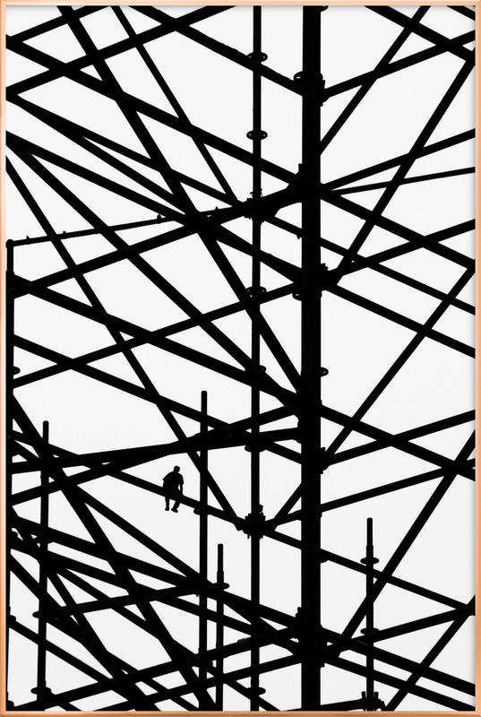 Coffee Break as Poster in Aluminium Frame by Marcus Cederberg | JUNIQE