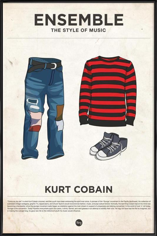 Ensemble Kurt Cobain as Poster in Standard Frame   JUNIQE