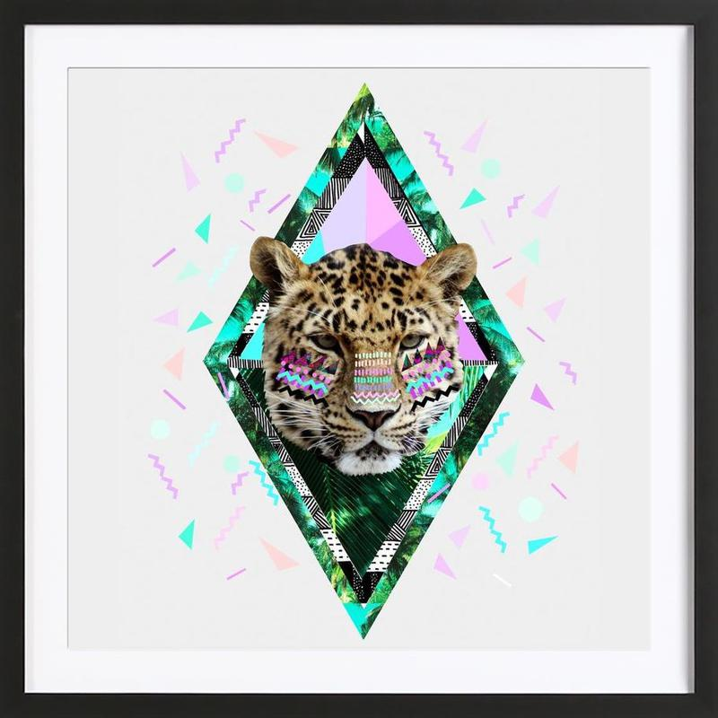 Safari Waves as Poster in Wooden Frame by Kris Tate | JUNIQE