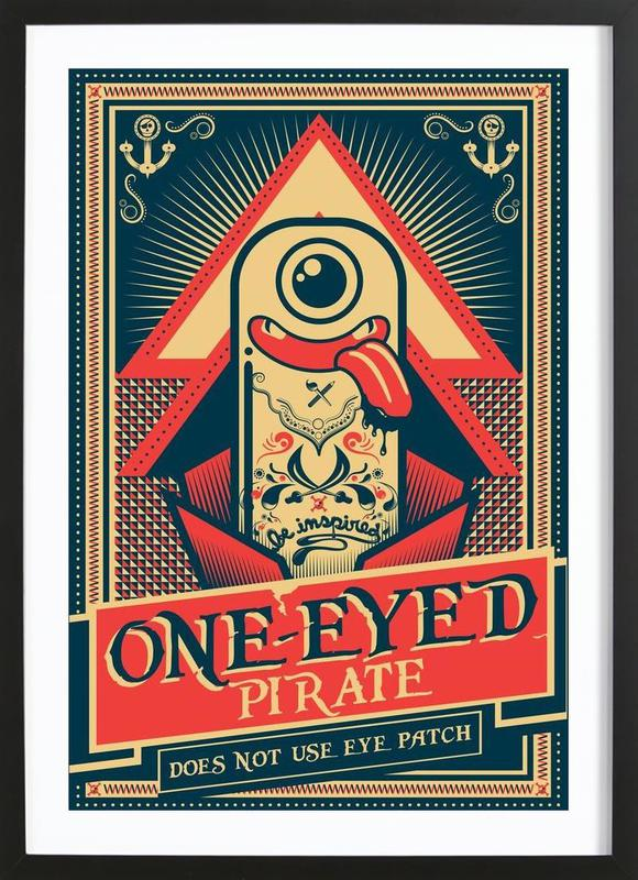 One Eyed Pirate As Poster In Wooden Frame By Victor Beuren Juniqe
