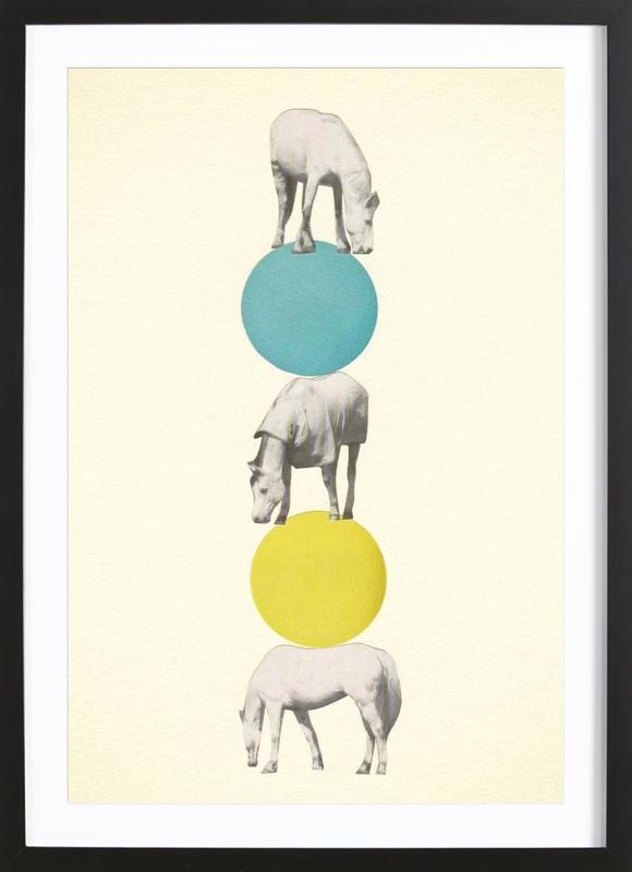 horseplay als poster im holzrahmen von cassia beck juniqe. Black Bedroom Furniture Sets. Home Design Ideas