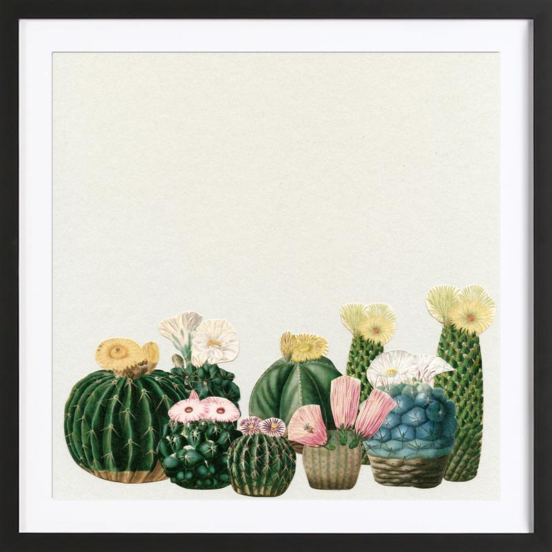 Cactus Garden as Poster in Wooden Frame by Cassia Beck | JUNIQE