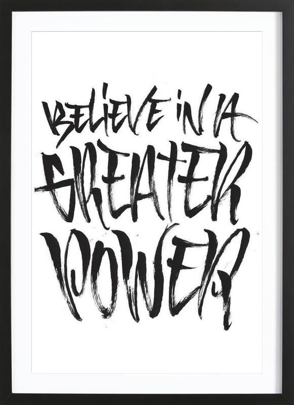 Believe as Poster in Wooden Frame by Gwer | JUNIQE