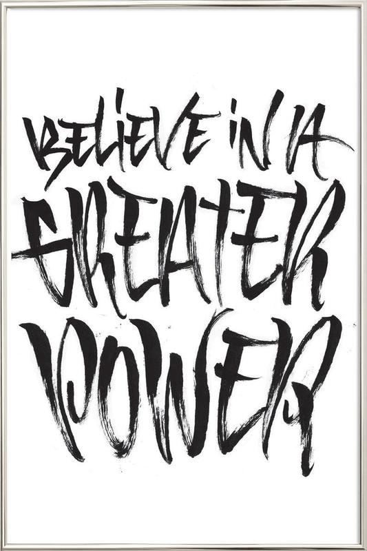 Believe as Poster in Aluminium Frame by Gwer | JUNIQE