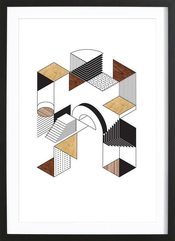startling a als poster im holzrahmen von gwer juniqe. Black Bedroom Furniture Sets. Home Design Ideas