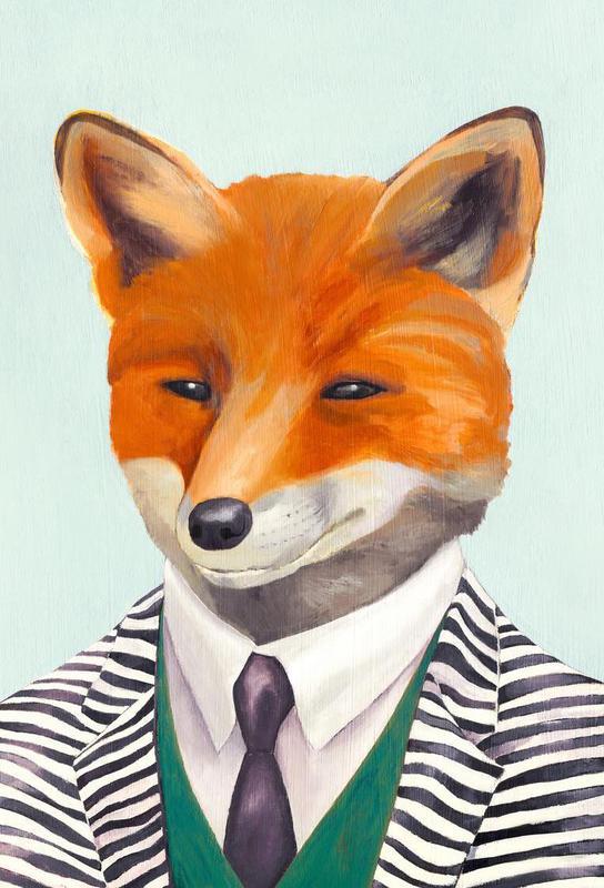 mister fox als acrylglasbild von animal crew juniqe ch. Black Bedroom Furniture Sets. Home Design Ideas