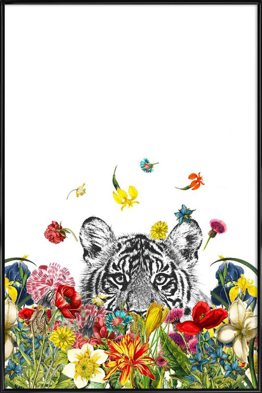Happy tiger as Poster in Standard Frame by Rococco LA | JUNIQE