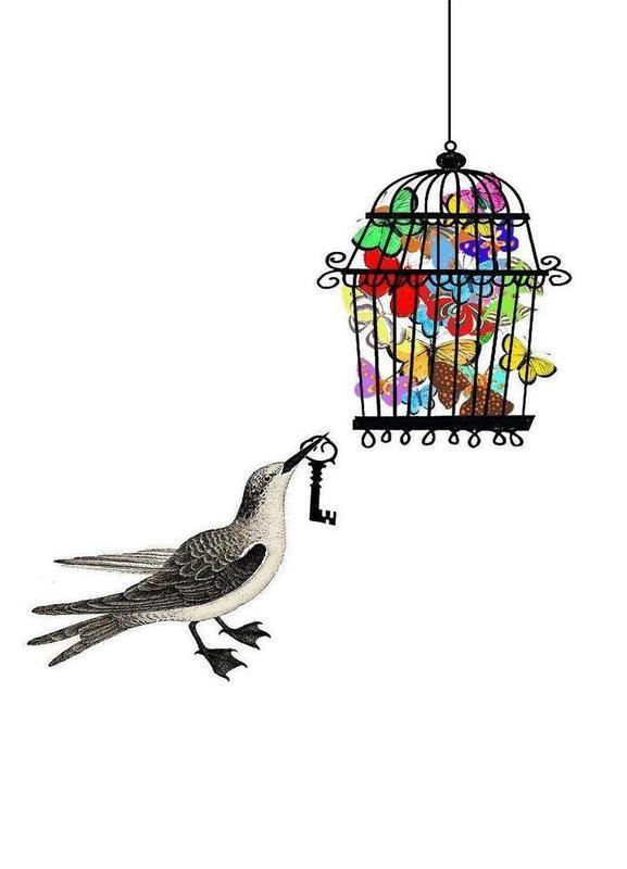 The bird has the key as Canvas Print by Rococco LA   JUNIQE