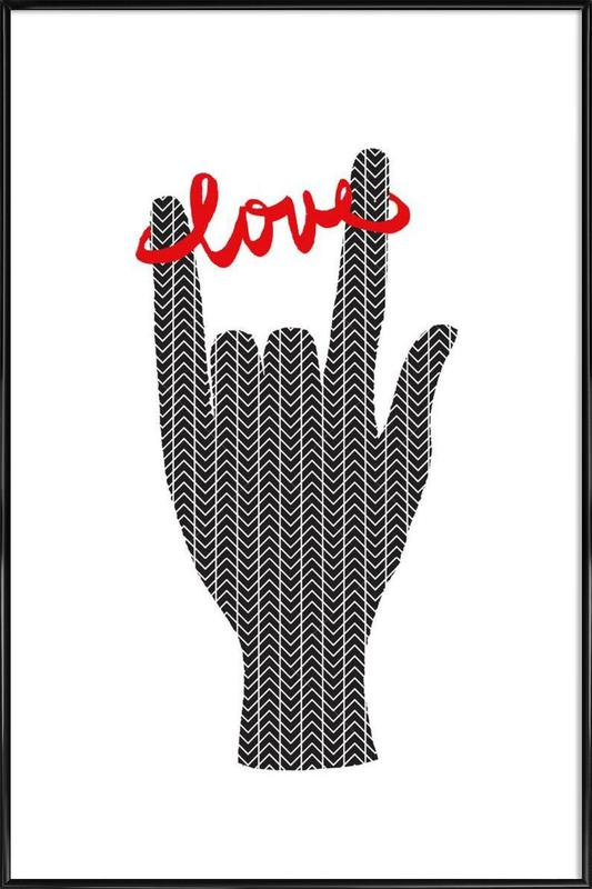 I Love You 2 as Poster in Standard Frame by Rococco LA | JUNIQE
