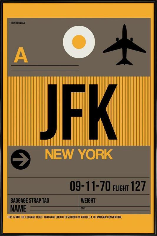JFK-New York as Poster in Standard Frame by Naxart | JUNIQE