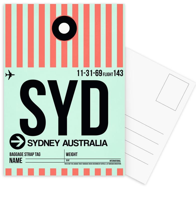 SYD-Sydney als Postkartenset von Naxart | JUNIQE