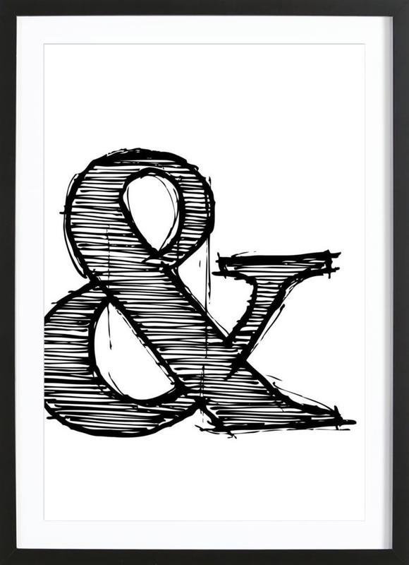 Ampersand Poster 1 as Poster in Wooden Frame by Naxart | JUNIQE UK