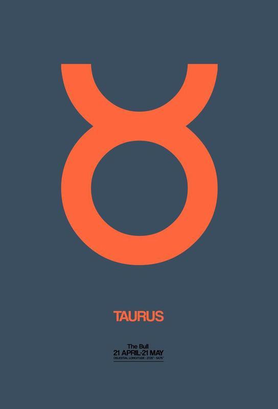 Taurus Zodiac Sign Orange As Acrylic Glass Print By Naxart Juniqe