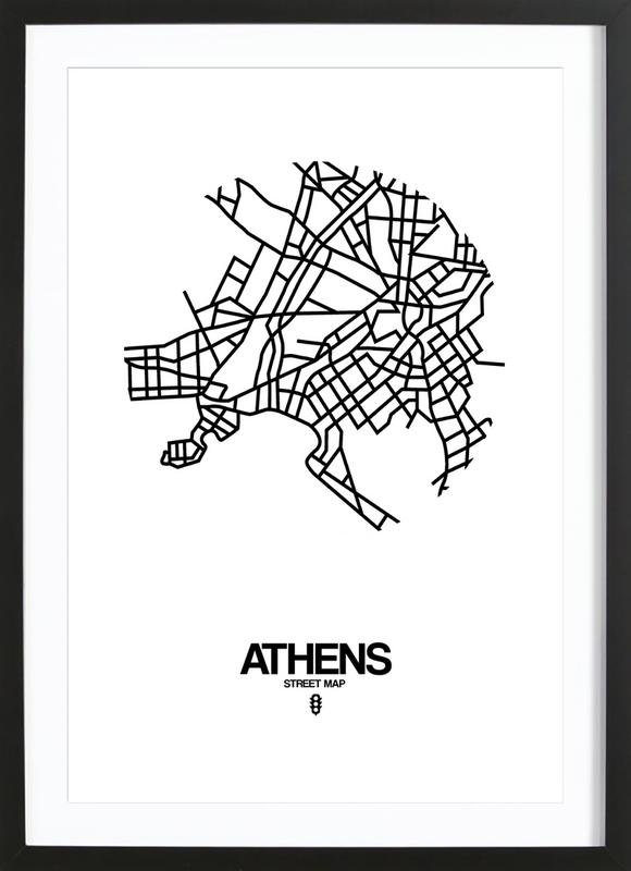Athens as Poster in Wooden Frame by Naxart | JUNIQE