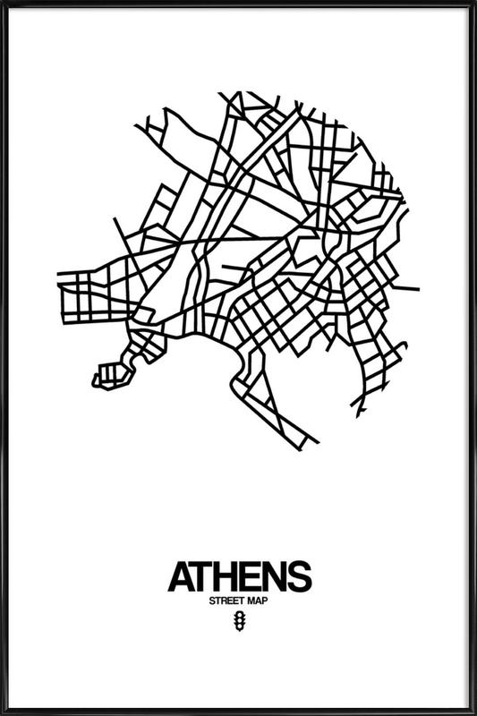 Athens as Poster in Standard Frame by Naxart | JUNIQE UK