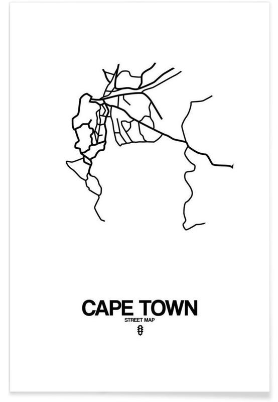 Cape town as premium poster by naxart juniqe