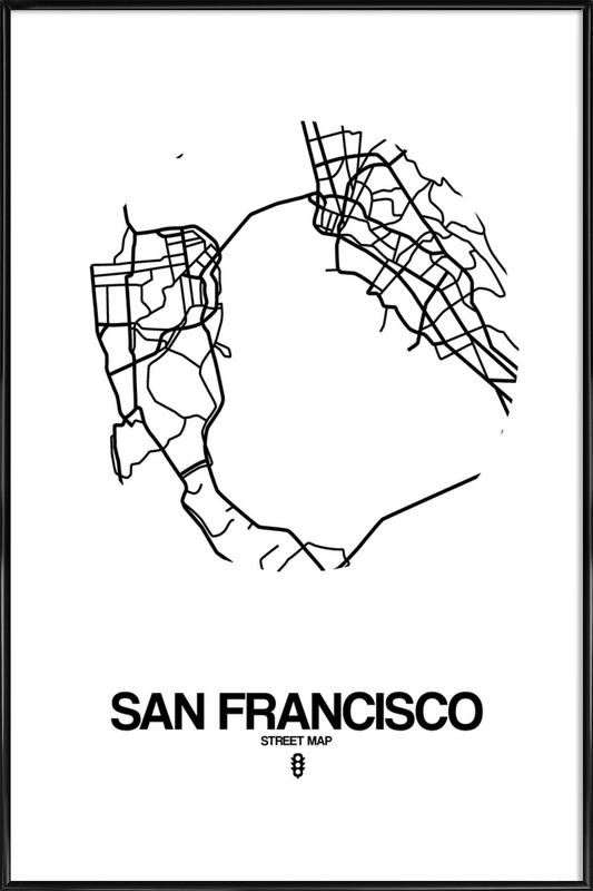 San Francisco as Poster in Standard Frame by Naxart | JUNIQE