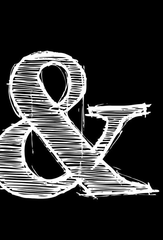ampersand black als alu dibond druck von naxart juniqe. Black Bedroom Furniture Sets. Home Design Ideas