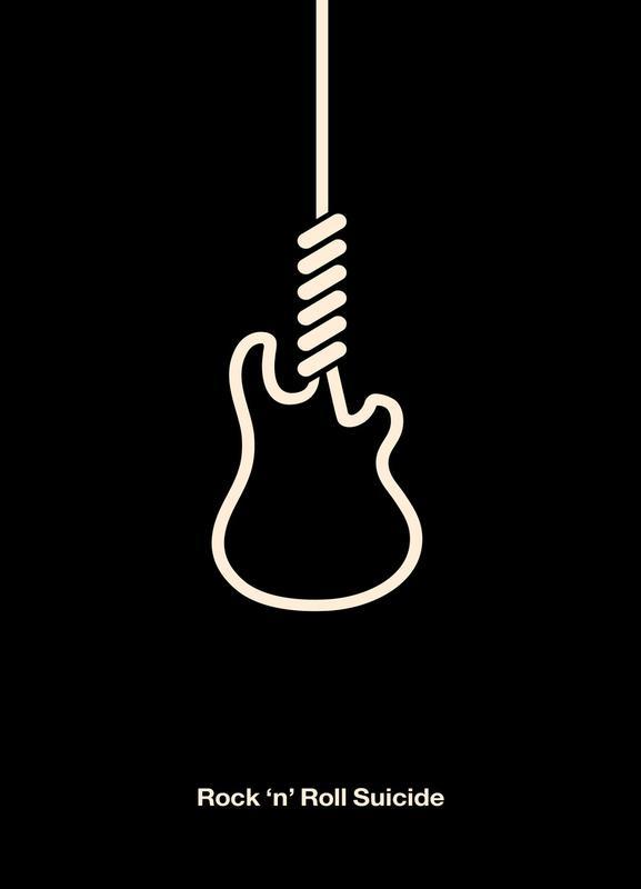Rock \'n\' Roll Suicide as Canvas Print by Viktor Hertz   JUNIQE