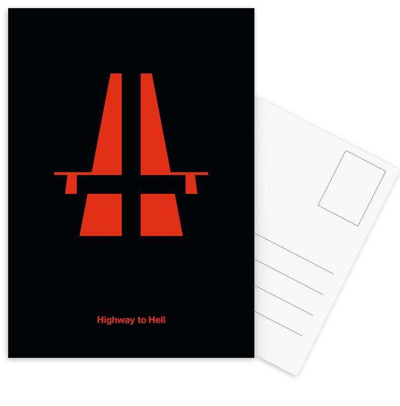 Highway To Hell As Postcard Set By Viktor Hertz Juniqe