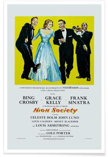 'High Society' Retro Movie Poster