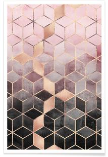 info for cb762 6eded Pink Grey Gradient Cubesby Elisabeth FredrikssonPosterfrom £6,95